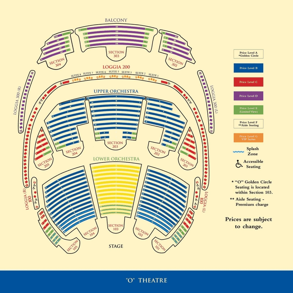 O Theater Bellagio Seating Chart